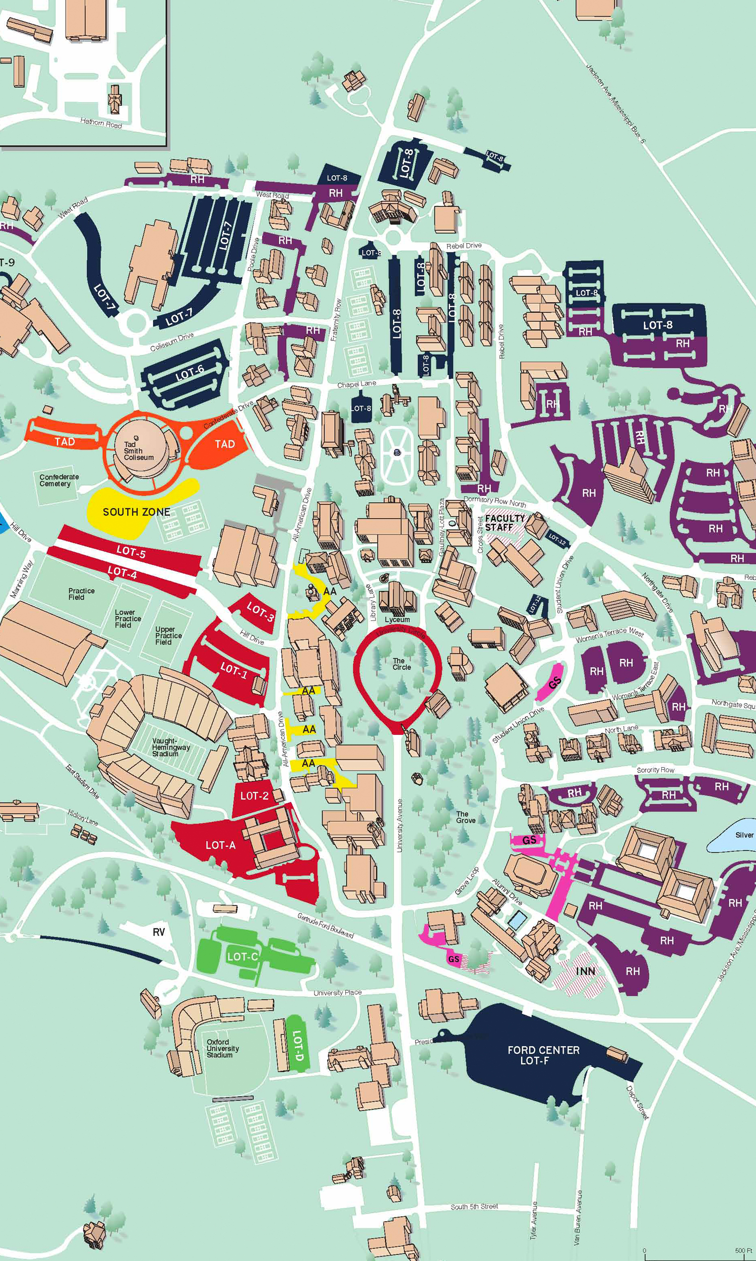 university of mississippi map Football Parking Becoming More Accessible Safer For Rebel Fans Ole Miss Athletics university of mississippi map