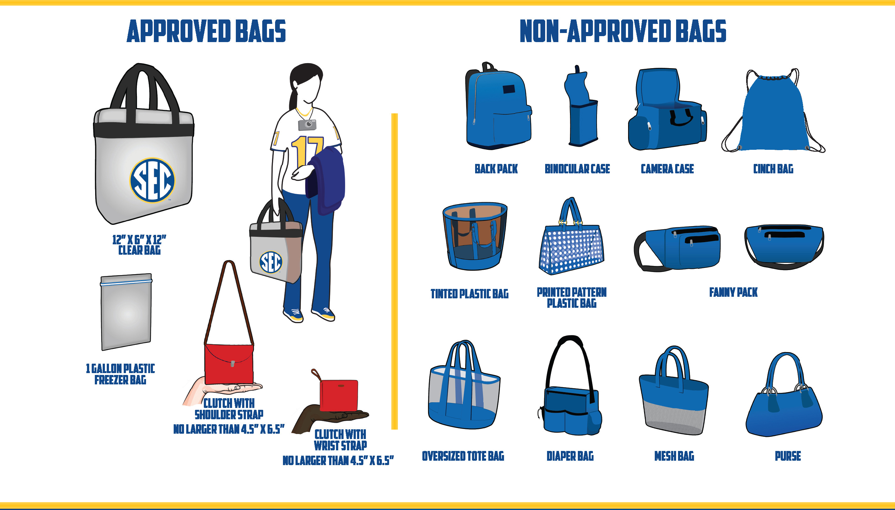 5d1c192e87 SEC Implements Clear Bag Policy for Football Games - Ole Miss Athletics