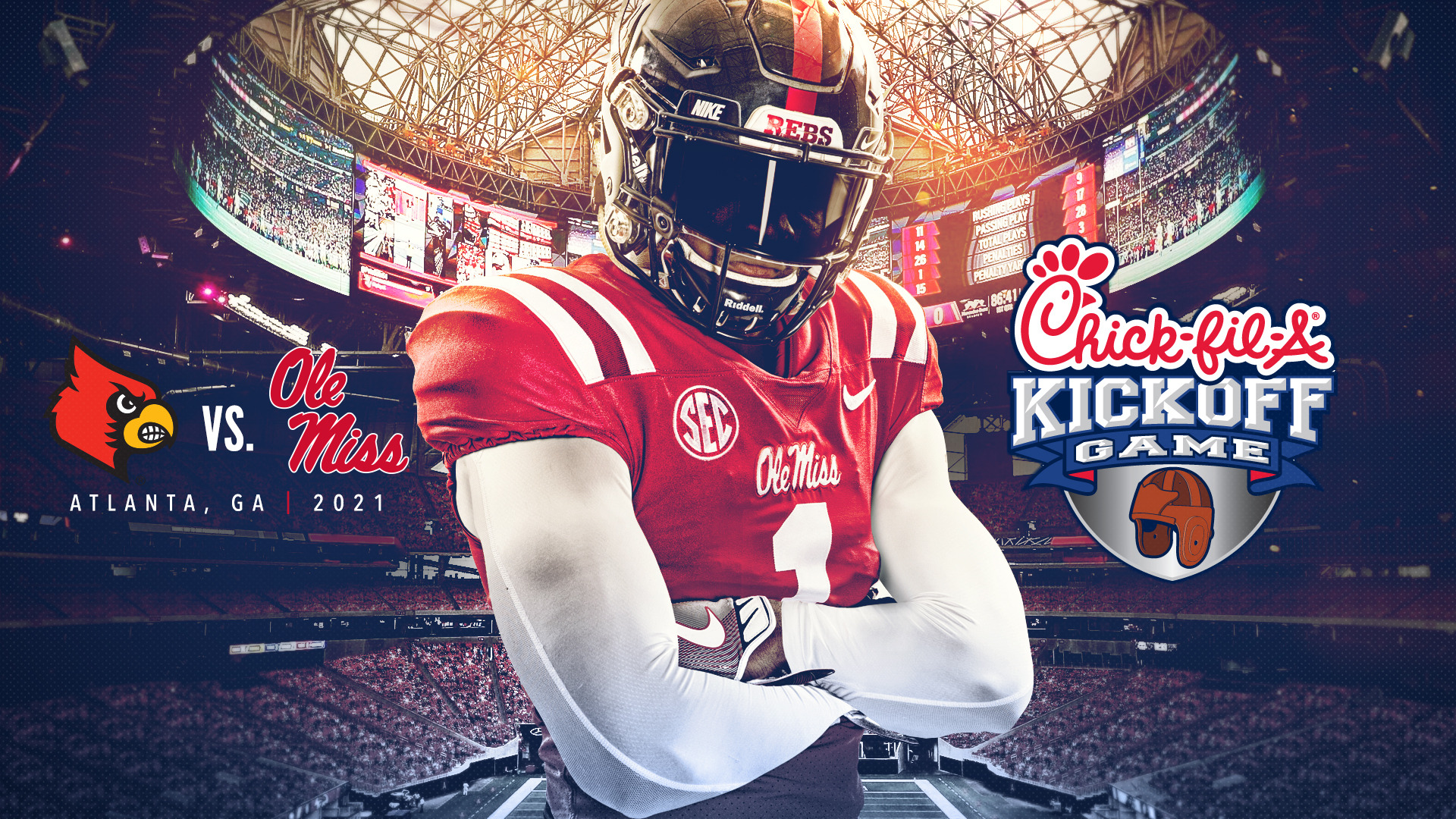 Ole Miss Football Schedule 2020.Ole Miss To Face Louisville In 2021 Chick Fil A Kickoff Game