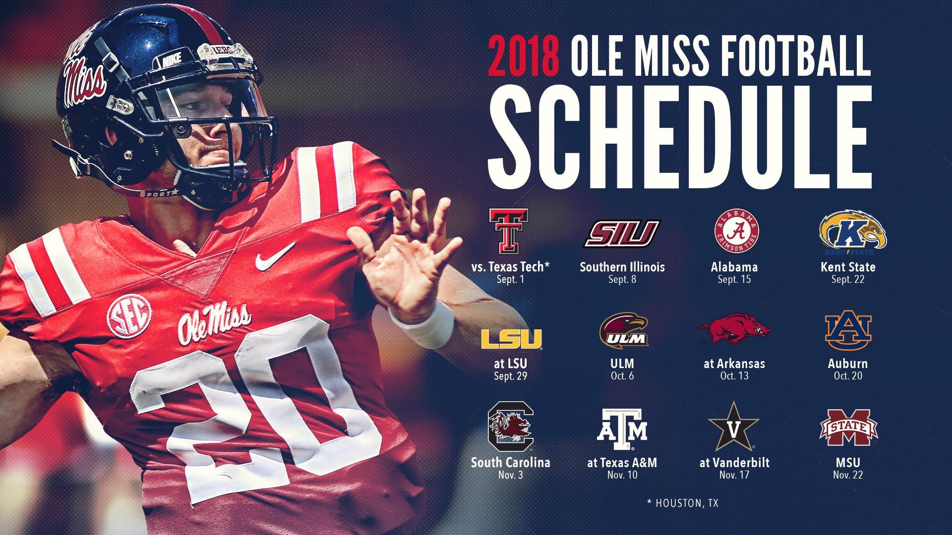 Ole Miss Schedule 2019 Ole Miss Football Announces 2018 Schedule   Ole Miss Athletics