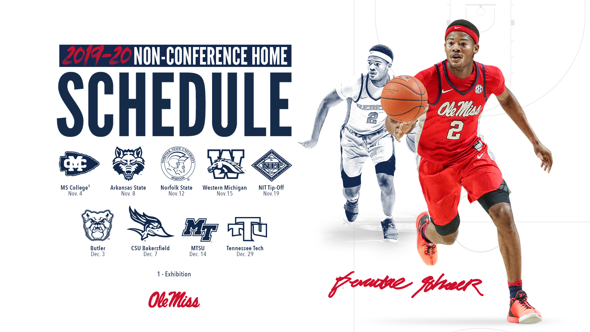 Men S Hoops Announces Home Schedule Ole Miss Athletics