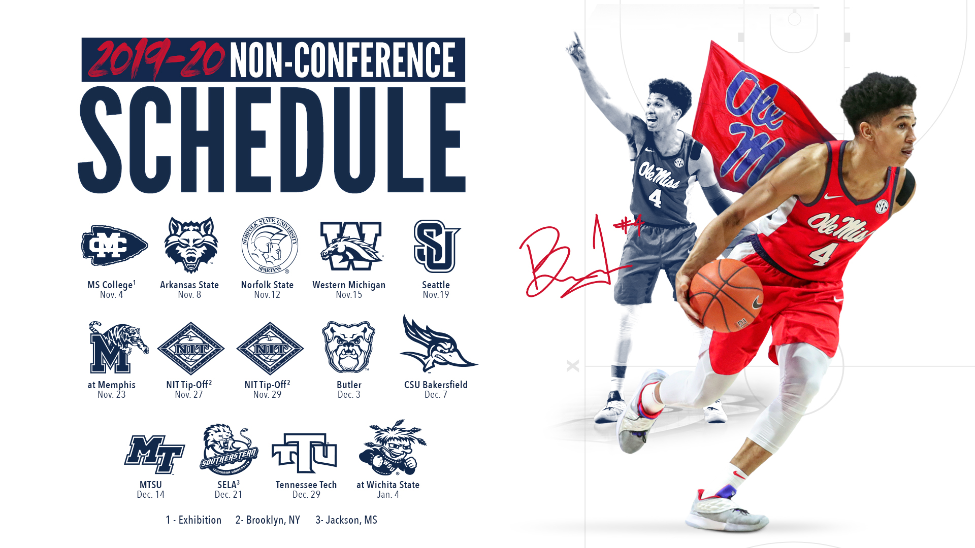 Non Conference Schedule Finalized For Men S Basketball Ole